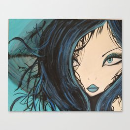 My Mermaid. Original Painting by Jodilynpaintings. Figurative Abstract Pop Art. Canvas Print
