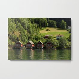 Norway landscape and fjord Metal Print