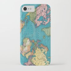 Vintage Map of The World (1897) iPhone 7 Slim Case