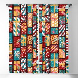 Christmas Presents Pattern Blackout Curtain
