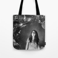 sci fi Tote Bags featuring Sci-Fi by Melissa Smith
