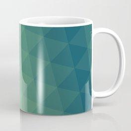 Blue/Green Triangle Gradient Pattern Coffee Mug