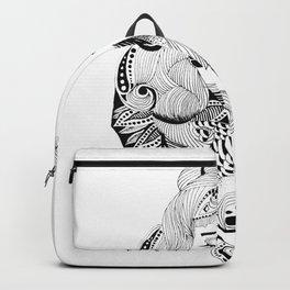Ink drawing Zodiac Gemini Backpack