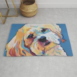 Maltipoo, Cavapoo, Cavachon, Cockerpoo, Mix Breed Custom Pop Art Pet Portrait Rug