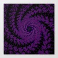 Purple Spiral Fractal Design Canvas Print