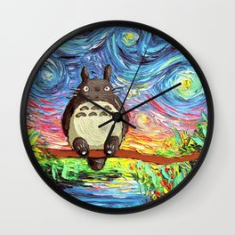 neighbor van gogh Wall Clock