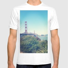 The Golden Gate White Mens Fitted Tee MEDIUM