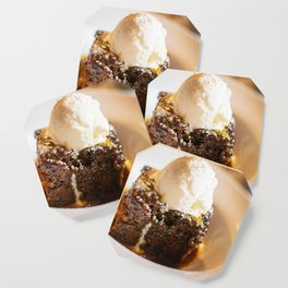 Sticky toffee pudding and ice-cream Coaster