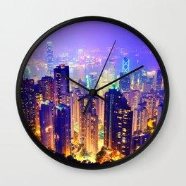 Chill Lighted City Wall Clock