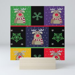 Rein Deer Christmas Mini Art Print