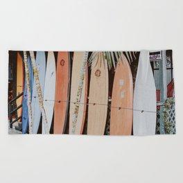lets surf ii Beach Towel
