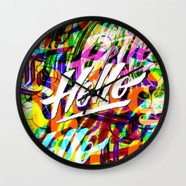 Hello Hello Hello Wall Clock