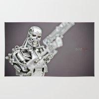 terminator Area & Throw Rugs featuring Terminator by TJAguilar Photos