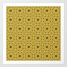 Primrose Yellow Lace Art Print
