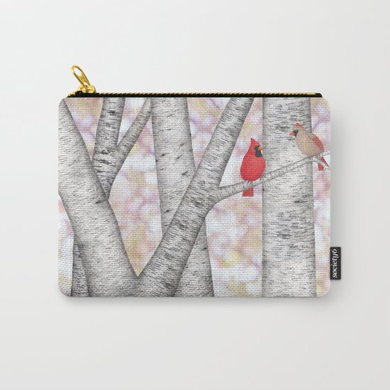 cardinals and birch trees Carry-All Pouch