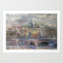 Oil Painting On Canvas City Landscape Artwork Impressionism Cozy Home Decor Bedroom Decoration Art Print