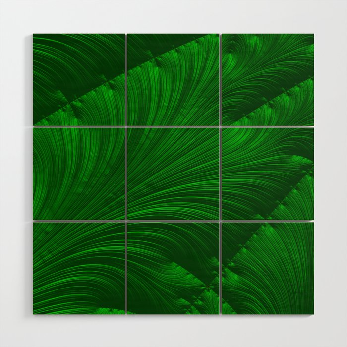 Renaissance Green Wood Wall Art