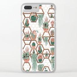 Succulent Garden Christmas Succulent Garden. Echeveria, Cacti, plants, aloe vera, pachyveria, Clear iPhone Case