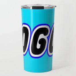 LOGO in Brick Font Logo Design [Alternate Colors] by Chillee Wilson Travel Mug