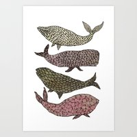 whales Art Prints featuring Whales by Saara Kaa