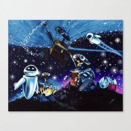 Wall-E Collage Canvas Print