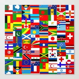 Flag Montage Canvas Print