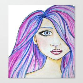 Color Girl Canvas Print