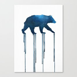 indigo bear Canvas Print