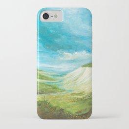 White Cliffs Landscape Kent UK iPhone Case
