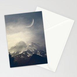 Mist over mount Rainier Stationery Cards