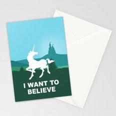 I WANT TO BELIEVE - Unicorn Stationery Cards