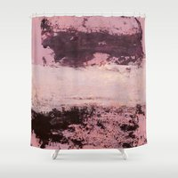 burgundy Shower Curtains featuring burgundy rose by patternization