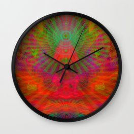 Love Radiation Meditation Wall Clock