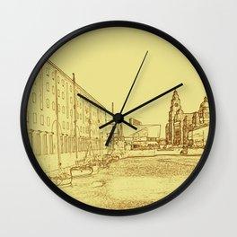 Albert Dock, Liverpool (Digital Art) Wall Clock