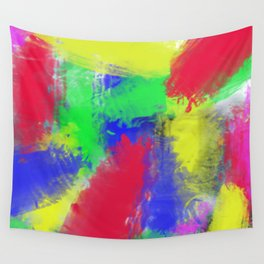 Abstract colorful pattern Wall Tapestry