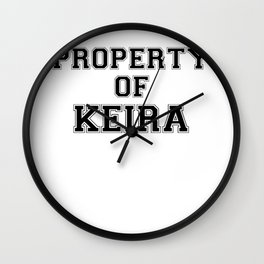 Property of KEIRA Wall Clock