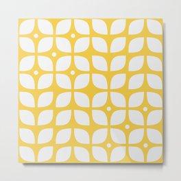 Mid century modern yellow geometric Metal Print