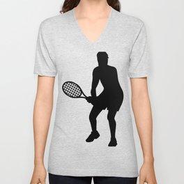 Tennis player Unisex V-Neck