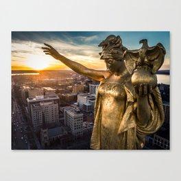 Sunset Wisconsin Canvas Print