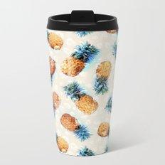 Pineapples + Crystals  Metal Travel Mug