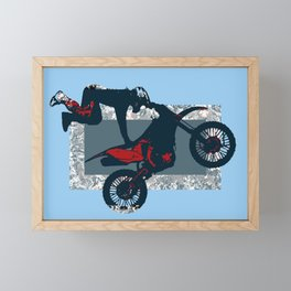 Flying Freestyle Moto-x Champ Framed Mini Art Print