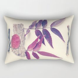 Red Leaf and Twigs Collection Rectangular Pillow