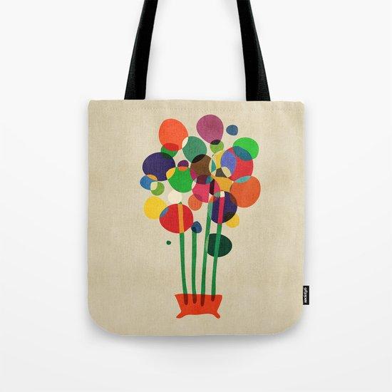 Happy flowers in the vase Tote Bag