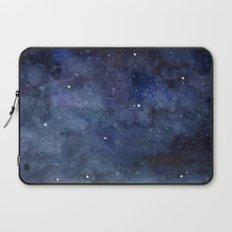 Night Sky Stars Galaxy | Watercolor Nebula Laptop Sleeve
