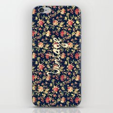 Vintage Elegant Pink and Red Roses Floral Pattern iPhone & iPod Skin