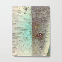 Autumn Birch Tree Abstract Metal Print