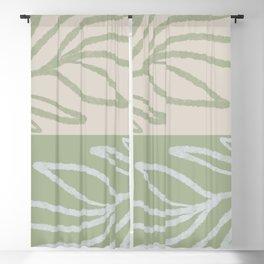 Laurel Leaves in Balance - Sage Green  Blackout Curtain