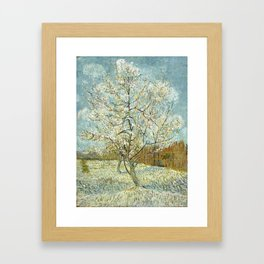 Vincent Van Gogh Peach Tree In Blossom Framed Art Print