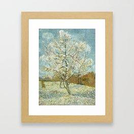 Vincent Van Gogh Peach Tree In Blossom Framed Art Print