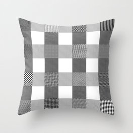 Yogi, B&W Throw Pillow